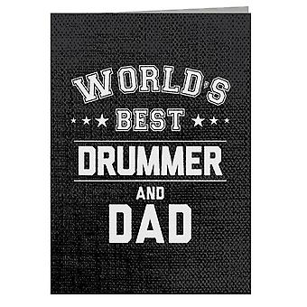 Worlds Best Drummer And Dad Greeting Card