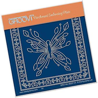 Groovi Tina-apos;s Butterfly Mariposa Petite A6 Square Plate