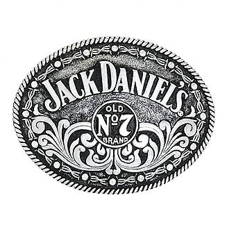 Jack Daniel's Swing Bug Logo Silver Belt Buckle.