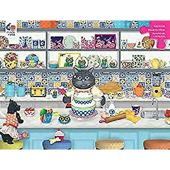 Puzzle - Ceaco - Gigi the Cat The Baker 300pc New 2249-1