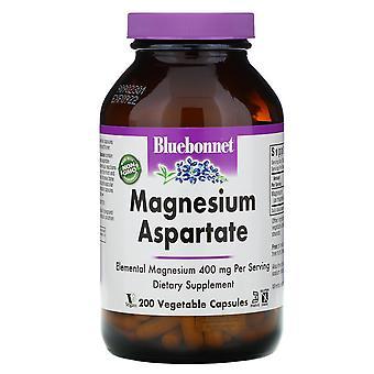 Bluebonnet Nutrition, Aspartate de magnésium, 400 mg, 200 capsules végétales