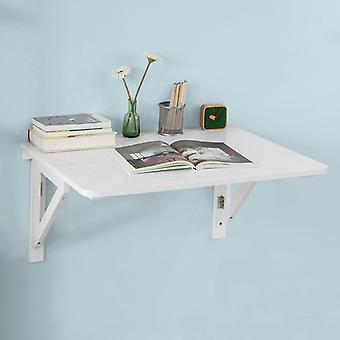 SoBuy Wall-mounted Drop-leaf Table, Folding Dining Table Desk, Solid Wood Table, 75¡Á60cm, White, FWT05-W