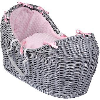 Clair de Lune Dimple Noah Pod Basket Grey