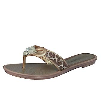 Grendha exotique Thong Womens Tongs / sandales - Beige