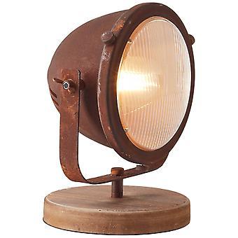 BRILLIANT Lampe Carmen Lampe de table couleur rouillée | 1x A60, E27, 40W, convient pour les lampes normales (non incluses) | Échelle
