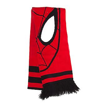 Marvel Comics The Amazing Spider-man Face Print Knitted Scarf Red/Black
