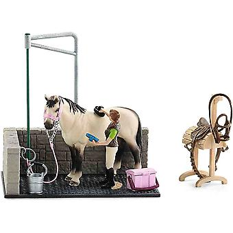 Schleich horse wash are play set for children over 3 years old