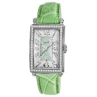 גבריל נשים 's 7246NV שדרת אמריקה מיני יהלומים ירוק עור שעון יד