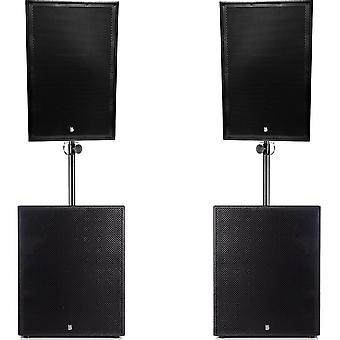 Big gig rig 18 - passive 2200w rms 15 tops and 15 subwoofer pa system