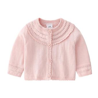 Knitted Long Sleeve Cotton Cardigan Sweater - Newborn Clothing