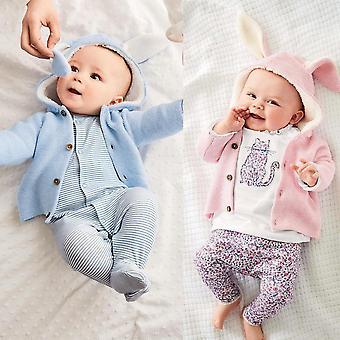 Vauvan vaatteet lämmin takit vastasyntynyt taapero lapset neulottu villapaita