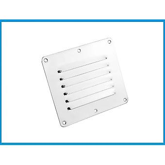 Marine Grade Stainless Steel- 316 Boat Marine Square Air Vent Louver / Grille Ventilation Louvered Ventilator Grill Cover