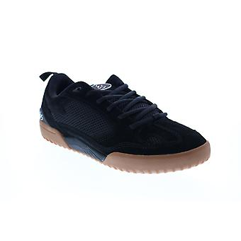 ES Quattro  Mens Black Leather Skate Inspired Sneakers Shoes