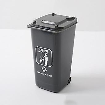 Multi Color Mini Waste Bins, Plastic Paper Dustbin, Wheelie Trash Can,