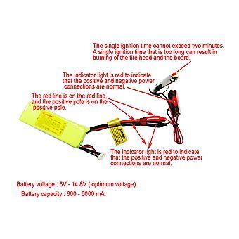 6V-24V Plastic+Metal Upgrade Accessory Glow Plug Starter Igniter For RC Car Blue