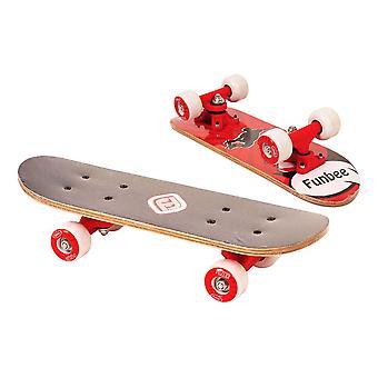 Funbee Children's 17-Inch Maple Wood Mini Skateboard Cruiser Unisex Red OFUN247R