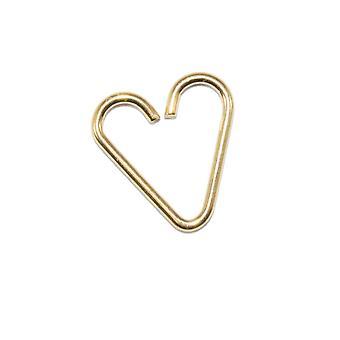 Hehkutettu kulta anodisoitu titaani 18ga sydämen rusto korvakorut