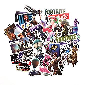 Waterproof Cartoon Fortnite Stickers For Skateboard, Suitcase, Guitar, Luggage