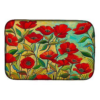 Carolines Treasures PPD3020DDM Poppy Garden Bloemen Dish Drogen Mat
