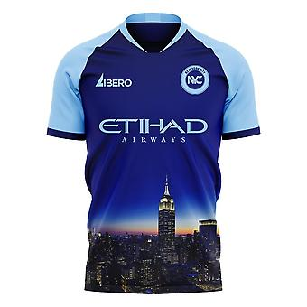 New York City 2020-2021 Away Concept Football Kit (Libero) - Voksen langærmet