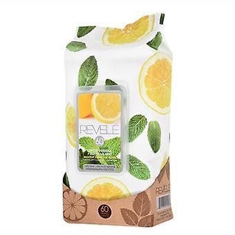 Revele Lemon Verbena & Egyptian Mint Makeup Remover Wipes 60 Sheets