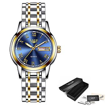 New Gold Watches Ladies Creative Steel Bracelet Watches Waterproof