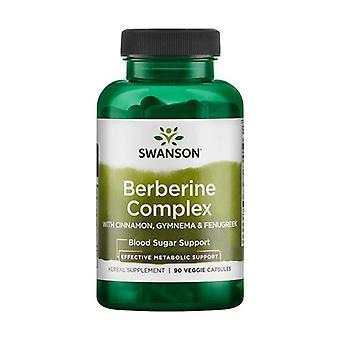 Berberine Complex with Cinnamon, Gymnema & Fenugreek 90 vegetable capsules