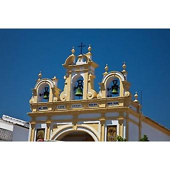 Spain Andalusia Zahara Bell tower of the San Juan de Letran Chapel Poster Print by Julie Eggers