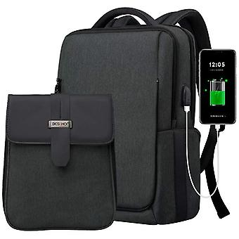 Beschoi 15.6 inch Laptop Backpack with USB Charging Port, Waterproof Business Outdoor Travel Bag