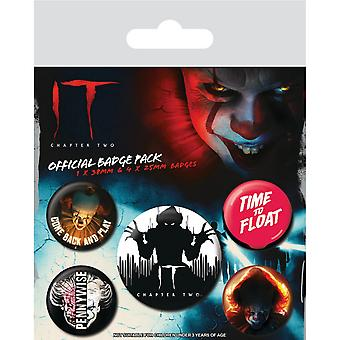IT Chapter Two Clown Badge (Pack of 5)