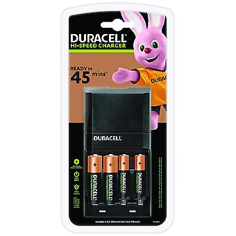 Duracell 45 minutes battery charger with 2 aa and 2 aaa 45 minutes charger + 4 batteries unit pack