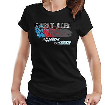 Knight Rider totalmente tanque y cruisin mujeres's camiseta