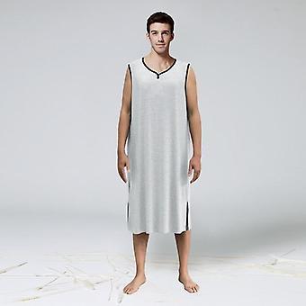 Chemise de nuit pour homme Mode V-neck Sleeveless Nightshirt