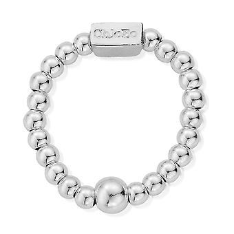 ChloBo SRM3 Women's Sterling Silver Mini Ring (Large)