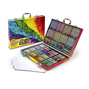 Crayola inspiración arte caja coloración set, niños actividades interiores en casa, 140 suministros de arte, multicolor