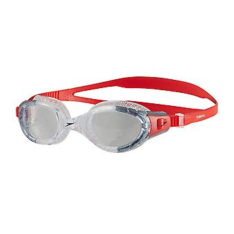 Speedo Futura Biofuse Flexiseal Mens Swimming Goggles Cushioned Fit - Lava Red