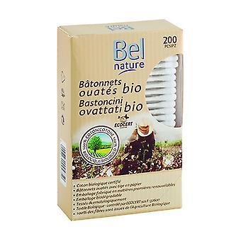 100% Økologisk Bomuld Sticks 200 enheder