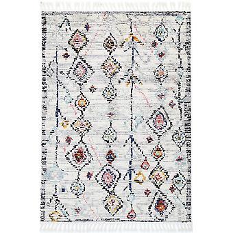 Tapis blanc marocain bohème Taza