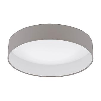 Eglo Palomaro 1 LED 405mm Dimmable Ceiling Light In Taupe