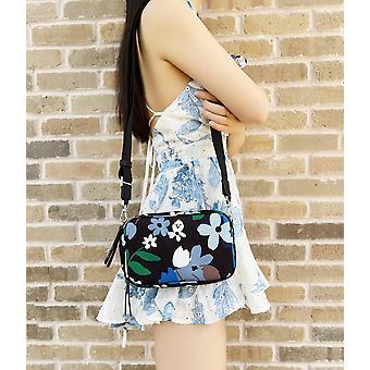 كيت سبيد جاي جريئة تزهر مزدوجة الرمز البريدي حقيبة كاميرا صغيرة قماش متعددة الأزهار الأزهار