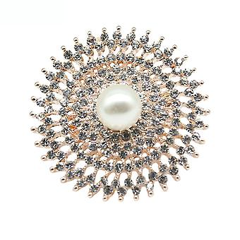 Ladies Brooch Sun And Moon Corsage Rhinestone Scarf Clip Brooch Pin