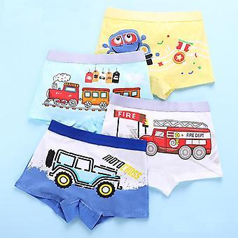 Children's Ondergoed, Cute Panties, Cartoon Print, Underpants Train Boxers,