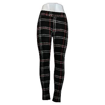 Cuddl Duds Leggings Fleecewear Stretch Black Jogger A369295