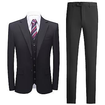 YANGFAN Mens 3-Piece Suit Two Button Slim Fit