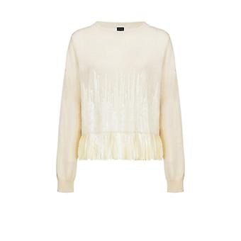 Pinko Trial Cream Sequins Sweater