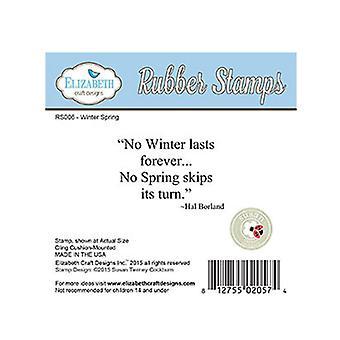 Elizabeth Craft Designs No Winter Red Rubber Stamp