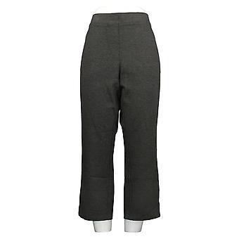Susan Graver Kvinder's Bukser Ponte Lige Ben Pull-On Gray A297711