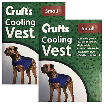 2 x Petit chien Cooling Vest Pet Hot Weather Heat Summer Beach Car Travel Holiday