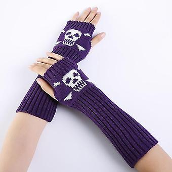 Autumn Winter Women Solid Color Gloves