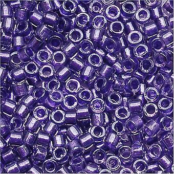 Miyuki Delica Siemenet, 11/0 Koko, 7,2 grammaa, Kimalteleva violetti vuorattu kristalli DB906